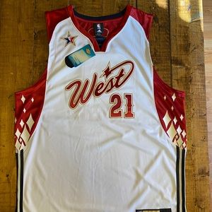 Tim Duncan NBA All Star Adidas Authentic Jersey